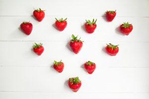 Liebesmittel aus der Küche, frische Erdbeeren