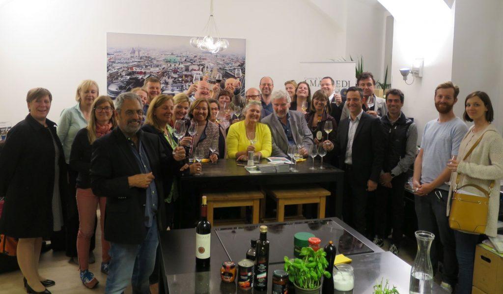 Weinverkostung mit I Magredi im Kochstudio die Pause
